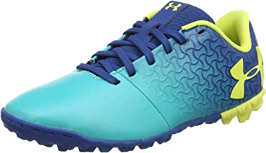 Under Armour Magnetico Select JR Turf Soccer Shoe, Teal Punch (300)/Moroccan Blue, 6