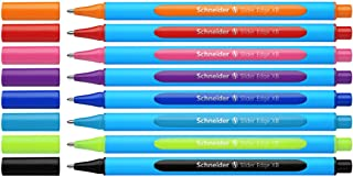 Schneider Slider Edge XB Ballpoint, 8 Pieces in Easel Stand, Assorted Colors (152279)