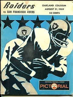 AFL vs NFL Pre-Season Football Game Program 8/31/1969-Oakland VS San Francisco-G