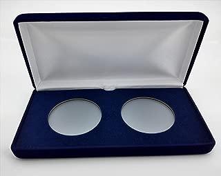 (1) Air-Tite Blue Velvet Coin Presentation Case (Holds 2) for Air-Tite Brand Coin Holder Capsules (Model