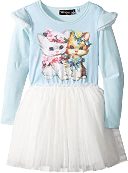 Rock Your Baby Lulu & Lola Long Sleeve Circus Dress (Toddler/Little Kids/Big Kids)