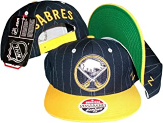 ZHATS Buffalo Sabres Pinstripe Navy Yellow Two Tone Snapback Adjustable  Plastic Snap Back Hat  4efe63de894
