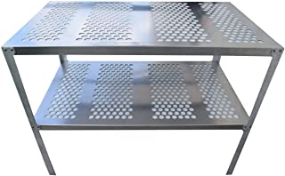 RMP Aluminum Greenhouse Potting Bench and Utility Table - 1 Inch Round Holes