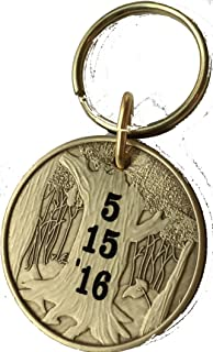 Engraved Sobriety Date Keychain Personalized This Day My New Life Began Medallion