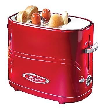 Tostador Nostalgia hdt600retrored Retro Series Pop-Up Hot Dog, Rojo