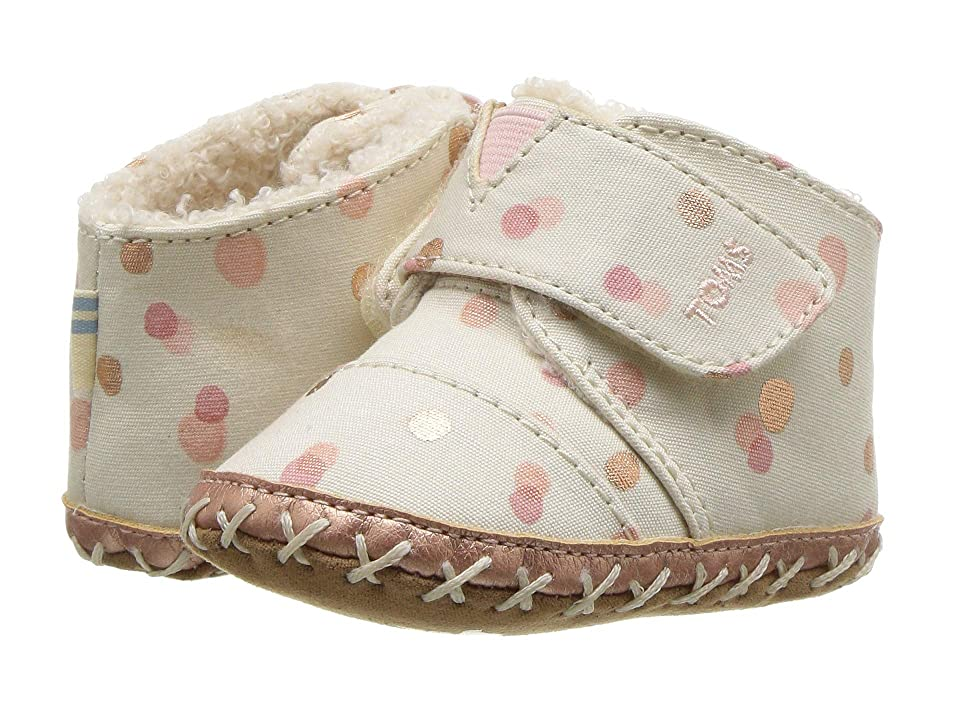 TOMS Kids Cuna (Infant/Toddler) (Pale Blush Party Dots) Girl