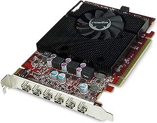 بطاقة رسومات فيجينتيك راديون 7750 بسعة 2 جيجابايت GDDR5 6 4K، 6 منافذ عرض صغيرة، AMD Eyefinity 2.0، بطاقة فيديو PCI Expres...