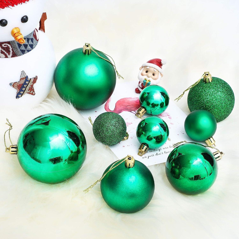 LessMo 30Pcs 4cm Bolas De Navidad Adornos de Bolas de Arbol de Navidad Inastillables Adornos Colgantes Decorativos de Navidad para Decoraci/ón de Fiestas en el Hogar
