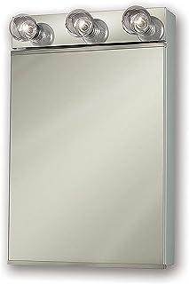 "Jensen 565X Lighted Medicine Cabinet, 18"" x 28"""