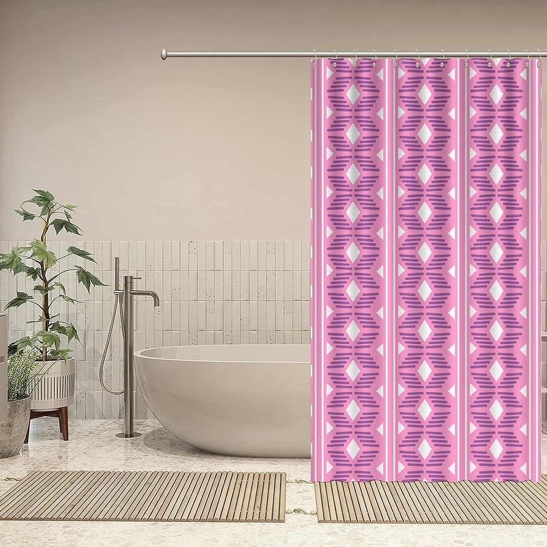 UTF4C Shower Curtain Geometric Max 74% OFF Folklore free shipping T Ornament Ethnic Tribal