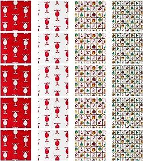20 peças de tecido de algodão de Natal da Exceart com estampa de tecido acolchoado de tecido de patchwork para projetos de...