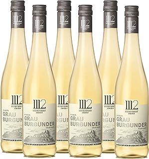 1112 Grauburgunder Trocken – Weißwein der Marke Elfhundertzwölf / Weisswein Baden / Grauer Burgunder / Badischer Wein / Trockener Weißwein 6 x 0,75l