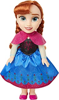 Frozen Disney Anna Toddler Doll with Movie Inspired Blue & Pink Outfit, Shoes & Braided Hair Style - Approximately 14