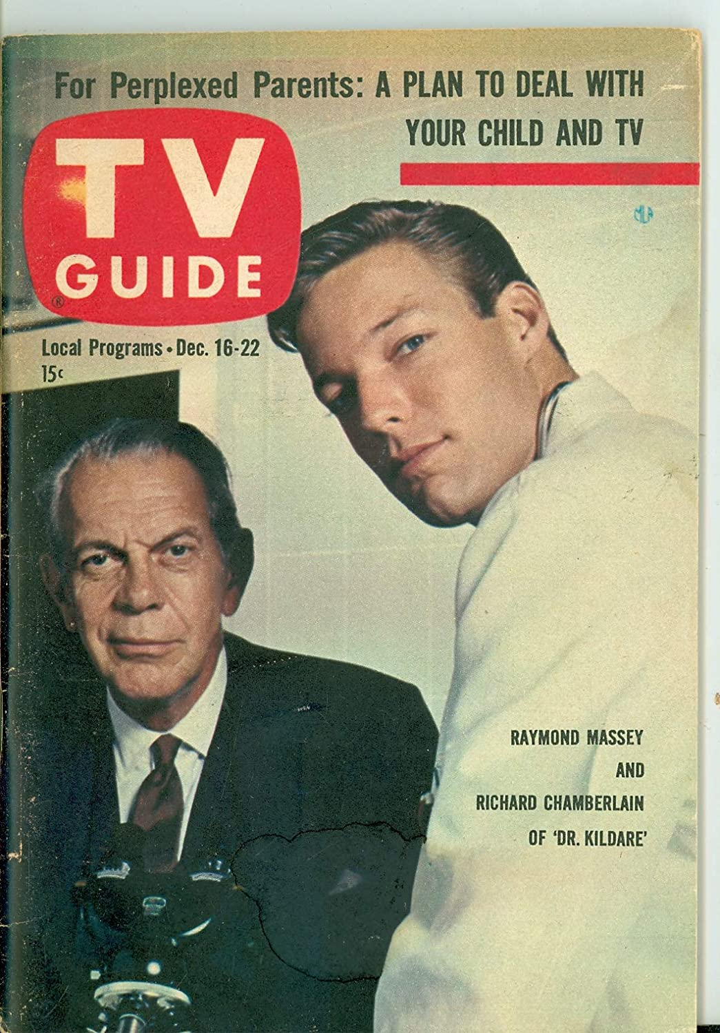 1961 TV Guide Dec 16 Dr. Large discharge sale Cheap super special price Cover - Illinois First Editio Kildare