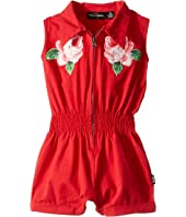 Rock Your Baby - Embroidered Rose Jumpsuit (Toddler/Little Kids/Big Kids)