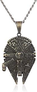 Jewelry Unisex Stainless Steel Millennium Falcon Pendant...