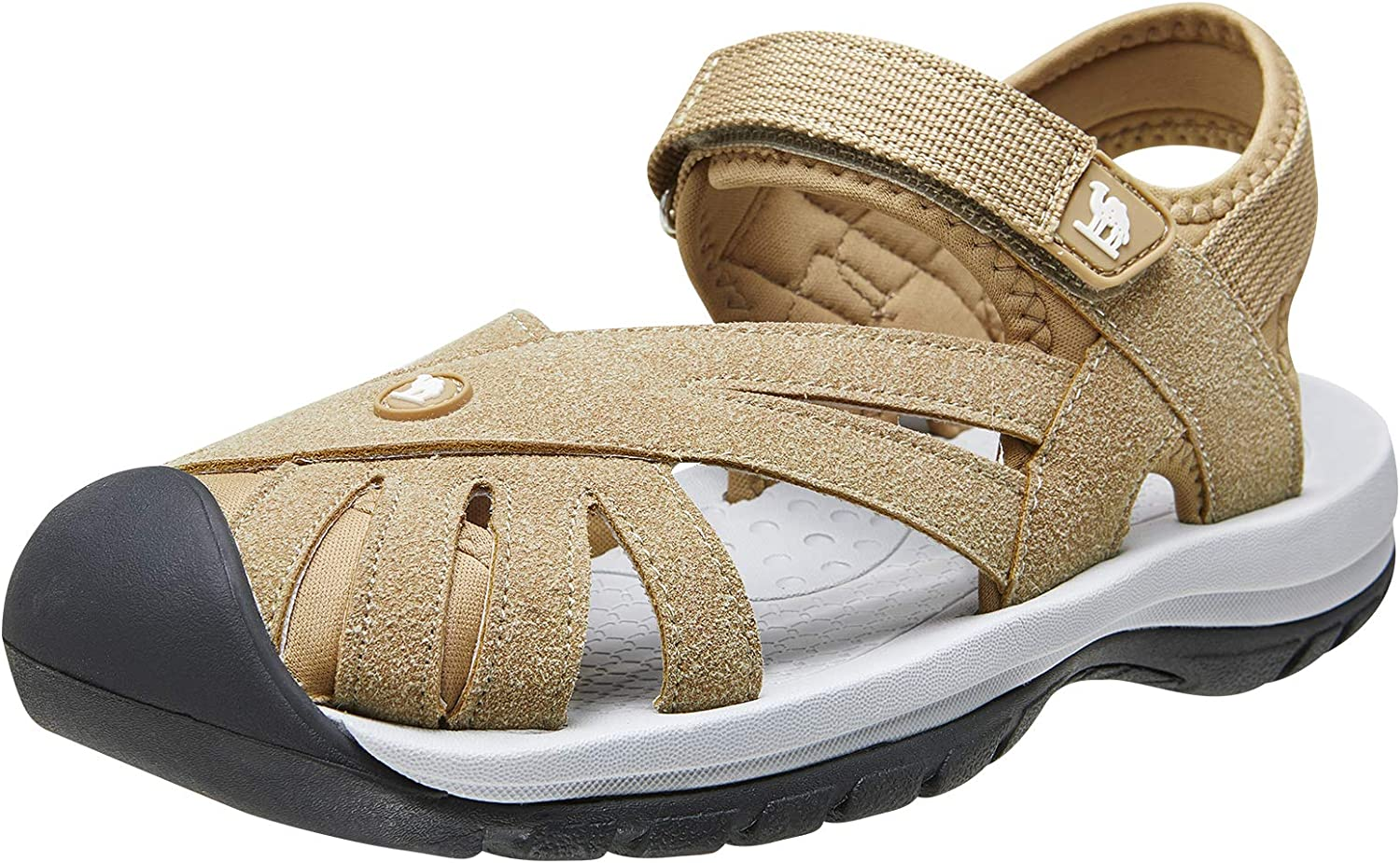 CAMEL CROWN Women's Hiking Sandals Waterproof Closed Toe Sport Sandals for Walking Outdoor Beach with Arch Support
