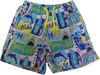Little Boys Quick Dry Beach Board Shorts Kids Swim Trunk Swimsuit Beach Shorts with Mesh Lining