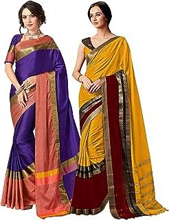 green with purple silk saree