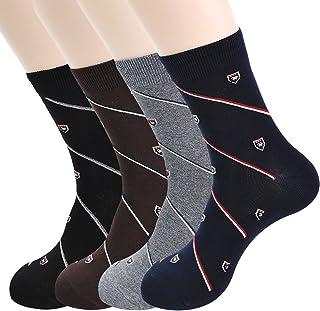 Calcetines de vestir para hombre y calcetines cortos para idea de regalo (rayas, estampados, rayas, cuadrícula, punto, ágil) con algodón peinado extrafino tamaño 7 a 11
