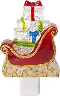 Midwest-CBK Sleigh LED Shimmer 6 x 3 Acrylic Holiday Night Light Festive Red
