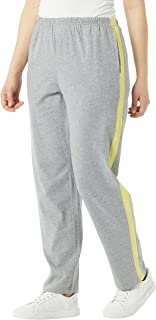 Women's Contrast Stripe Sweatpants - Pull-On Pants with...