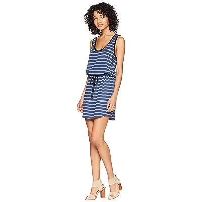 Lilla P Tie Waist Dress (Ink Stripe) Women