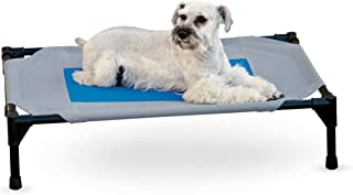 K&H Pet Products Coolin' Pet Cot Elevated Pet Bed Medium Gray/Blue 25