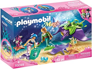 Playmobil Magic 70099 Pearl Collectors with Manta Ray, for Children Ages 4+