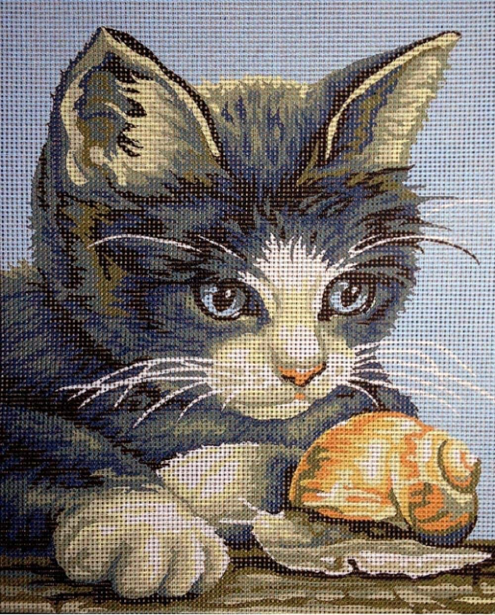 BaiJaC Needlepoint Sewing Ranking Clearance SALE! Limited time! TOP6 kit Tapestry with Cat Embroidery S