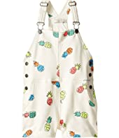 Stella McCartney Kids - Pandora Pineapple Print Jersey Short Overalls (Toddler/Little Kids/Big Kids)