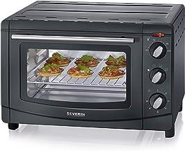 SEVERIN Mini-Four 20 L, Inclus : Grille et Lèche frites, Minuteur 60 min, 1 500 W, Noir, TO 2067