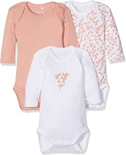 NAME IT Baby-Mädchen Body 3er Pack
