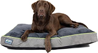 First-Quality Orthopedic Dog Bed |Pure Premium Shredded Memory Foam Ideal for Aging Dogs | Eases Pain of Arthritis & Hip Dysplasia | Waterproof 180 GSM Removable Washable Cover