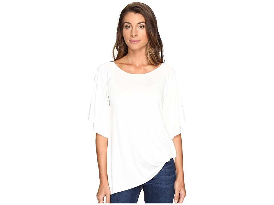 Karen Kane Split-Sleeve Pick Up Top (Cream) Women