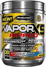 MuscleTech Vapor X5 Next Gen Pre Workout Powder & Weight Loss Supplement, Explosive Energy & Advanced Weight Loss, Icy Rocket Freeze, 30 Servings (7.27oz)