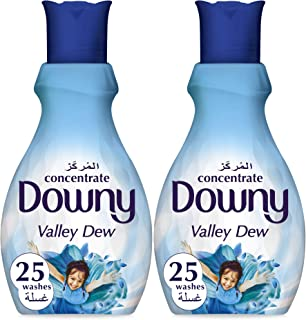 Downy Concentrate Fabric Softener, Valley Dew, 1L, Dual Pack