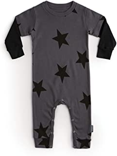 STAR PLAYSUIT -UNISEX BABY COTTON LONG SLEEVE BODYSUIT OVERALL FOR BABY GIRLS AND BABY BOYS