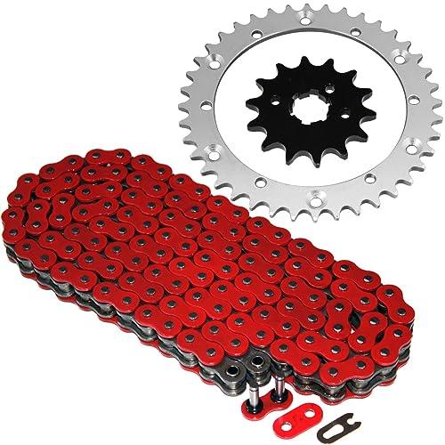 Red O-Ring Chain 520x104L fits 1989-2006 Yamaha YFZ350 350 Banshee