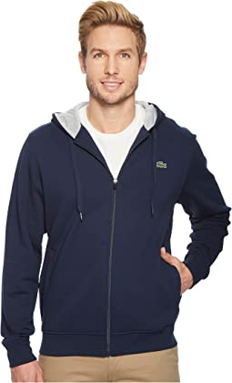 Lacoste - Full Zip Hoodie Fleece Sweatshirt