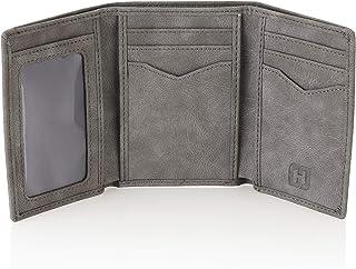 Handsome Factory Trifold Wallet - Men's Slim Minimalist Money Holder - 12+ Credit Cards, 15+ Cash Bills Capacity - Heavy D...