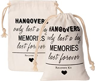 Crisky Hangover Kit Bags, Recovery Kit Bags, Bachelorette Party Decorations,