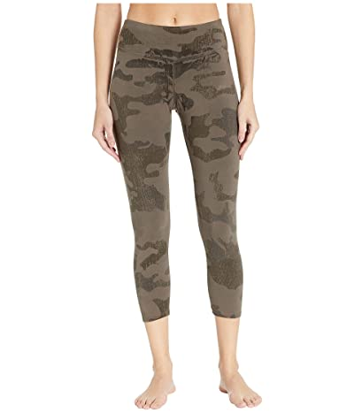 Hard Tail Flat Waist Capris (Gravel Camo) Women