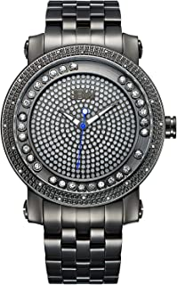 JBW Watch for Men Studded with 20 diamonds, Stainless Steel Band - J6338C