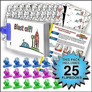Fliptomania Rocket Flipbook Animation Activity Pack - 25 Sets DIY Flip Books