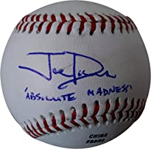 Joe Davis Voice of the Los Angeles Dodgers Autographed Signed Baseball with Absolute Madness Inscription and Exact Proof Photo of Signing, COA- LA Dodgers Collectibles