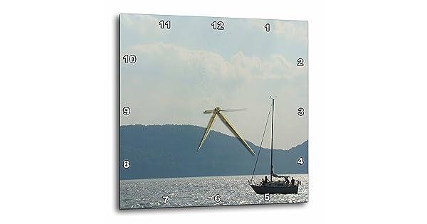 dpp/_23230/_1 3dRose Ann Euell Boats Sailboat Hudson River 10x10 Wall Clock