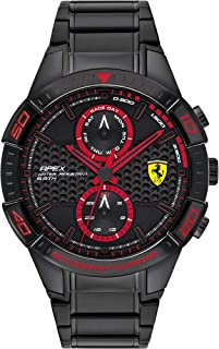 Scuderia Ferrari MEN'S BLACK DIAL IONIC PLATED BLACK STEEL WATCH - 830635