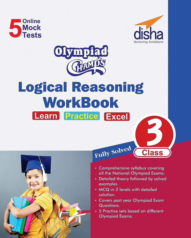 メッセージ警察署バルクOlympiad Champs Logical Reasoning Workbook Class 3 with 5 Mock Online Olympiad Tests (Hindi Edition)