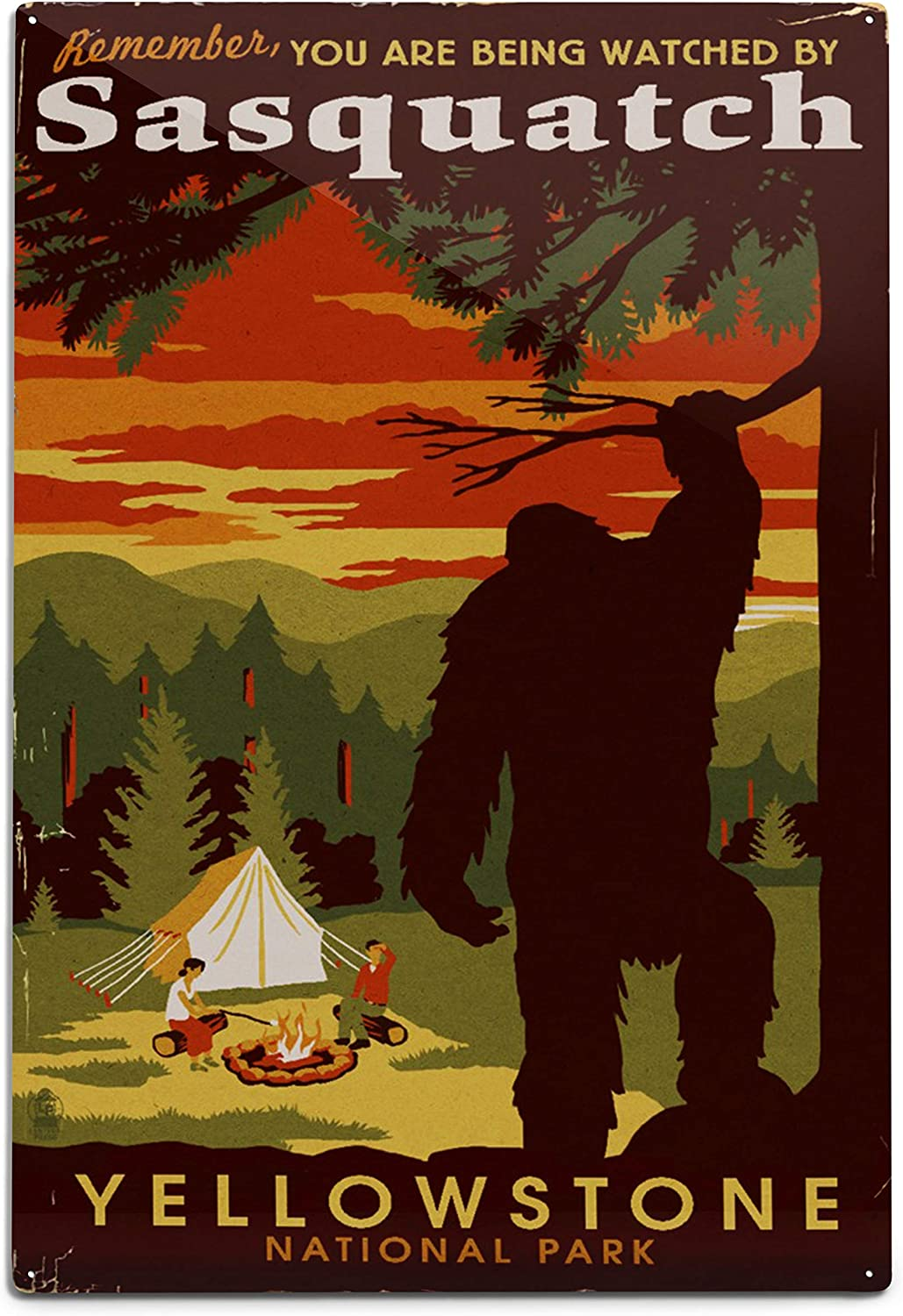 Lantern Press Yellowstone 70% OFF Outlet National Park You Watched are Being Great interest b